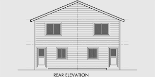 Duplex House Plan  Two Story Duplex House Plan  Affordable  D  House side elevation view for D  Duplex house plans  two story duplex house