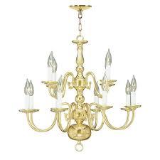 livex lighting 12 light polished brass chandelier