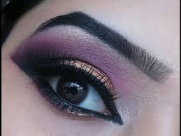 pink and gold smokey eyes glam indian