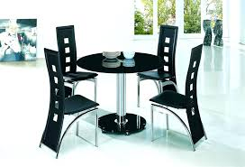 black glass dining table and 4 chairs small round sets apartment planet suppli