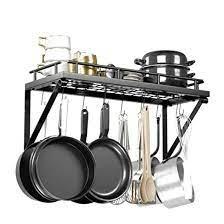 display4top wall mounted pot pan rack