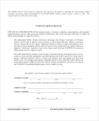 waver form sample liability waiver form 10 examples in word pdf