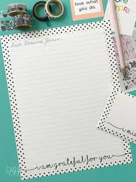 Printable Stationery With A Gratitude Theme Carrie Elle