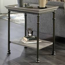 c street side table with metal frame and tray edge top sauder console boone mountain coffee