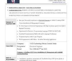 Good Resume Engineer Templates Resident Entry Level
