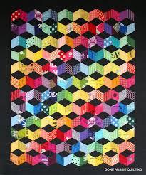 Tumbling Block Quilt Pattern