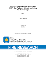 Gastite Csst Sizing Chart Validation Of Installation Methods For Csst Gas Piping To