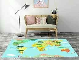 dinosaur world map area rug child united states educational