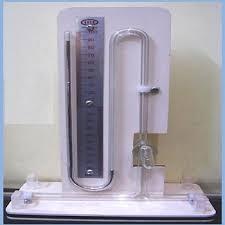 mercury manometer. mercury manometer u