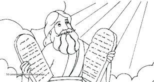 10 Commandments Coloring Pages Fresh Moses 10 Mandments Coloring