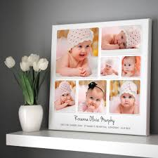 baby collage frame personalised baby photo collage framed print or unframed option