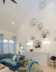 ideas on how to decorate tall walls