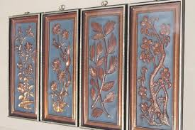 60s vintage four seasons wall art framed picture wall plaques in black gold on vintage metal wall art gold with 60s vintage four seasons wall art framed picture wall plaques in