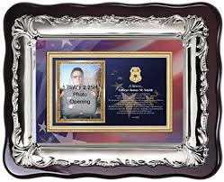 personalized sheriff police picture frame and policeman gift police officer photo frame plaque birthday retirement