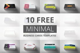 10 Free Business Cards 10 Free Minimal Business Cards Templates