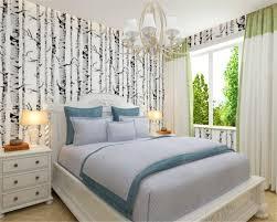 Beibehang Moderne Weiß Birke Schwarz Und Weiß Bäume Geprägte Tapete