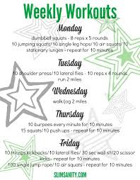 at home weekly workouts 2