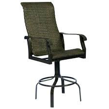 outdoor swivel bar stools with arms and back stool gorgeous woven patio16