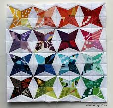 Mini Kaleidoscope Quilt | WOMBAT QUILTS & Kaleidoscope mini quilt Adamdwight.com