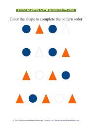 Kindergarten Color Patterns Triangles Circles | Kindergarten Math ...