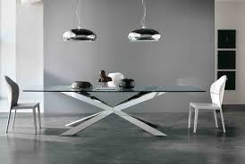 Sleek Stainless Steel Dining Tables Dining Room Classic Brown