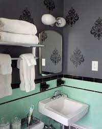 1940 Bathroom Design Stunning Green And Black Tile Bathroom Mint Green And Black Retro Original