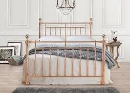 vintage metal bed frame. Modren Frame Image Is Loading AlexanderRoseGoldVintageMetalBedFrame4FT6 Intended Vintage Metal Bed Frame T