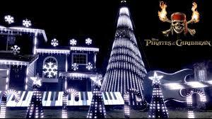Christmas Night Light Show Pirates Of The Caribbean Christmas Light Show 2018