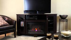 black home depot electric fireplaces with black leather