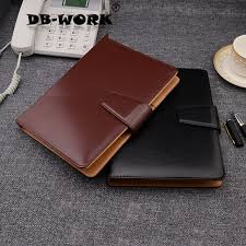 2018 a5 business leather notebook high end business notebook leather buckle note book a5 customization