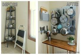 Pegboard Kitchen 9 Space Making Storage Hacks For Small Kitchens