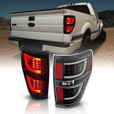 2010 F150 Rear Lights Not Working Amerilite Black Led Light Bar Replacement Tail Lights Set For 09 14 Ford F 150 Passenger And Driver Side