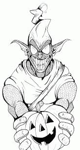 Green Goblin Coloring Page Green Goblin Coloring Pages Free ...