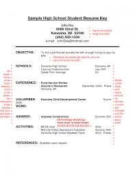 High School Student Resume Template Adorable For Sample Pdf Simple