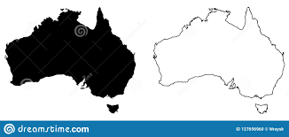 Mer Stock Chart Simple Only Sharp Corners Map Of Australia Vector Drawing
