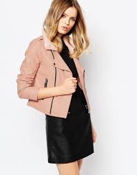 oasis suedette waterfall jacket gol reload faux leather jacket with faux fur trim 4