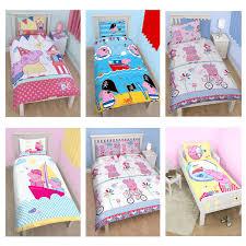 Peppa Pig Bedroom Stuff Peppa Pig Amp George Pig Duvet Quilt Covers Toddler Single
