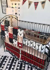 baby boy crib bedding red