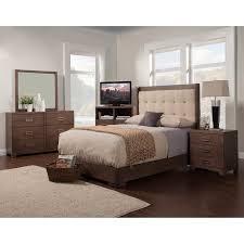 Savannah Bedroom Furniture Alpine Furniture Savannah Upholstered Panel Bed Pecan Beds At