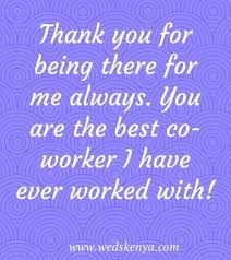 thank you messages for colleagues at