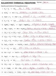 balancing chem equations balancing chemical equations worksheet 521026