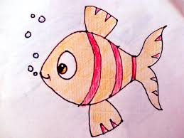 fish drawing for colouring. Perfect Drawing HowToDrawForKids FishHouseOctopusBeeTurtlePortrait And Fish Drawing For Colouring W