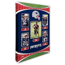personalized nfl wall art new england