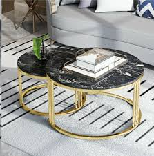 coffee table nesting table black marble and gold furniture tables chairs on carou