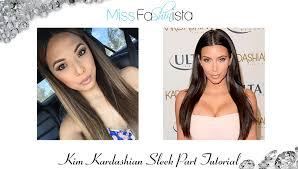 Middle Split Hair Style kim kardashian sleek part tutorial youtube 5733 by wearticles.com