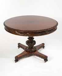 fine 19th c anglo indian rosewood carved table
