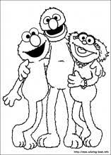 Small Picture Sesame Street coloring pages on Coloring Bookinfo