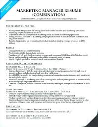Resume Samples For Marketing Marketing Resume Template Marketing ...