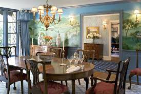 traditional dining room formal with murals decorating t98 dining