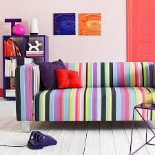 colorful modern furniture. striped sofa upholstery fabric and modern living room furniture design trends colorful a